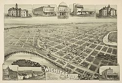 A map of Wichita Falls in 1890.