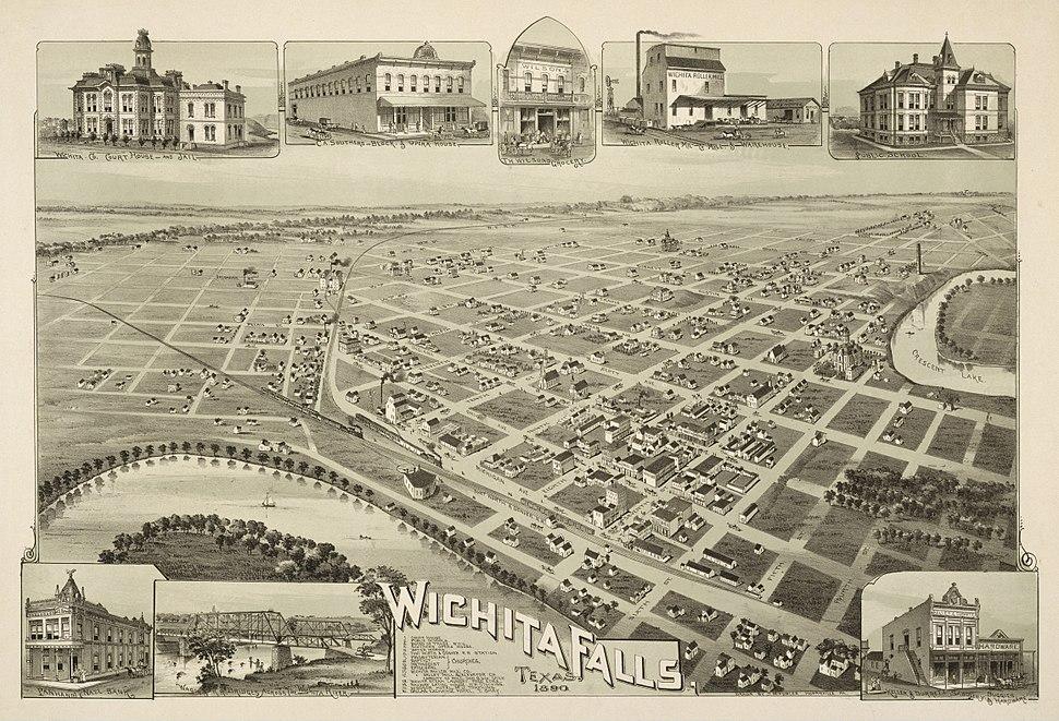 Old map-Wichita Falls-1890