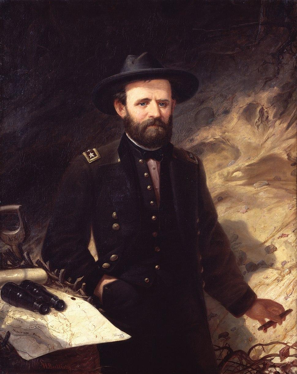 Ole Peter Hansen Balling - Portrait of Ulysses S. Grant (1865) - Google Art Project