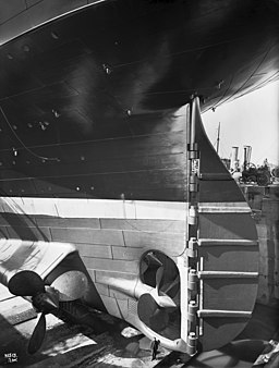 Olympic stern and rudder