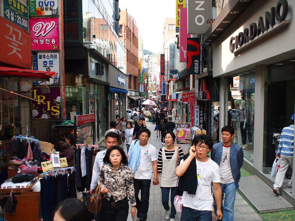 fileone of the many busan shopping streets in gwangbok