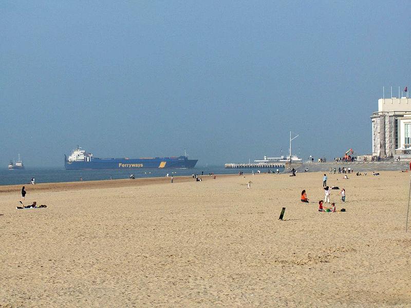 Praias no verão da Bélgica