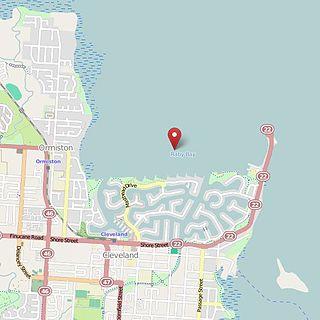 Raby Bay bight in Australia