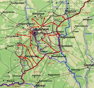 Bobruysk Offensive - Development of the bobruisk operation during soviet offensive operation bagration from june 24, 1944, 0400 AM to june 27, 1944, 0900 PM