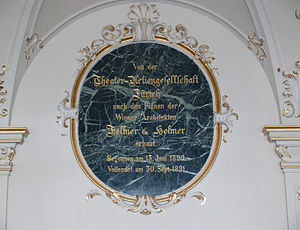 Zurich, Opera House, memorial plaque