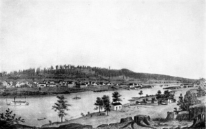 Oregon City in 1858.