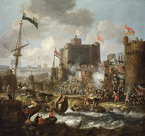 Ottoman forces attacking an islet fortress.jpg
