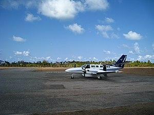 Tanzanair - A Tanzanair aircraft at Songo Songo Airstrip