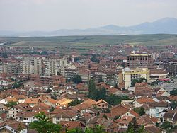 Overview of the town of Đakovica, Kosovo in 2006.jpg
