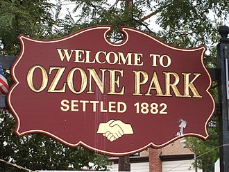 Ozone Park, Queens - Image: Ozone Park Welcome sign