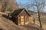 Pörtschach Winklern Quellweg ehemaliges Bienenhaus NO-Ansicht 19022017 6330.jpg