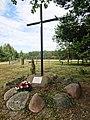 PL Wiązowna Malcanów Zrzutowisko Pierzyna memorial cross.jpg