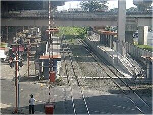 Nichols railway station - Platform area of Nichols station.