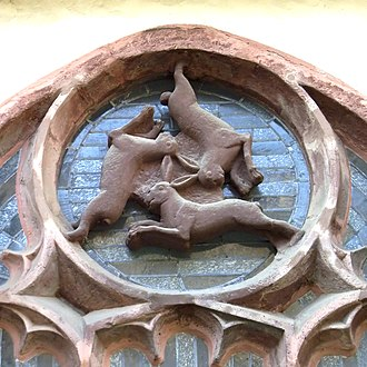 Easter Bunny - Dreihasenfenster (Window of Three Hares) in Paderborn Cathedral in Paderborn, Germany