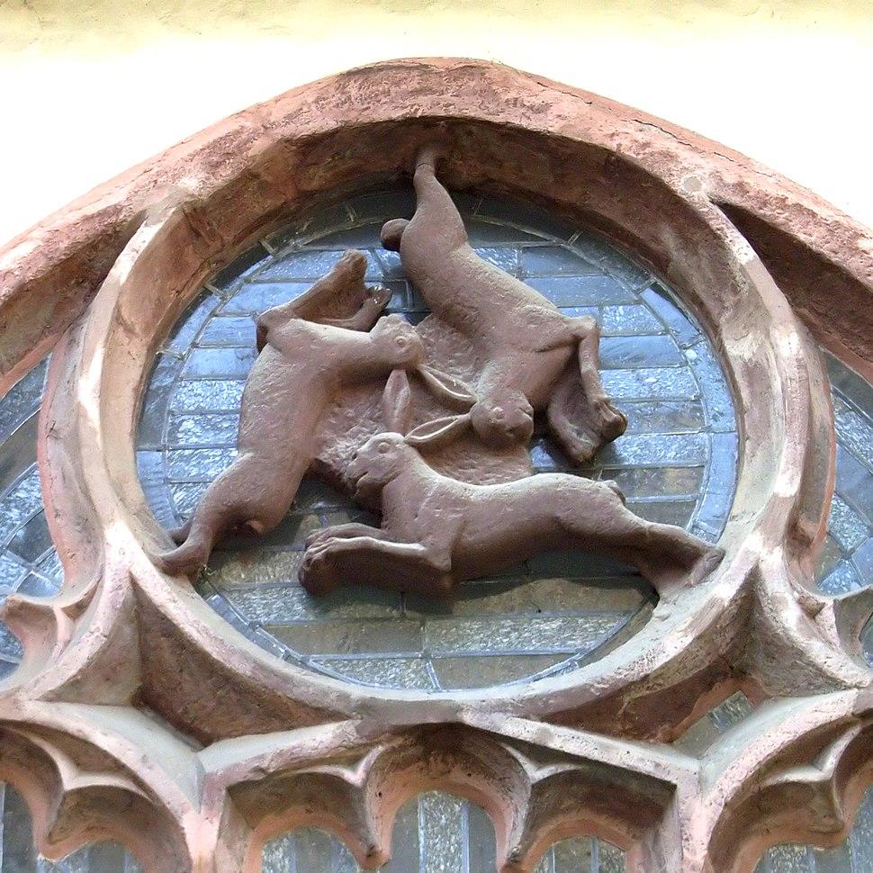 Paderborner Dom Dreihasenfenster