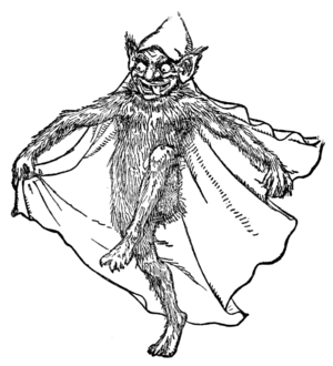Cauld Lad of Hylton - Illustration of a brownie from Jacob's English Fairy Tales