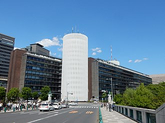 Mainichi Shimbun - Palaceside Building, the headquarters of Mainichi Shinbun in Tokyo.