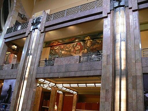 Palacio de Bellas Artes - Murales im Obergeschoss