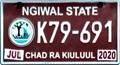 Palau licence plate Ngiwal 2020 b.png