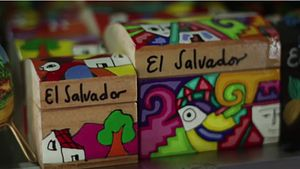 Salvadoran Americans - La Palma-type art, is a staple feature in modern Salvadoran cultural arts and craft, comes from the town of La Palma, Chalatenango.