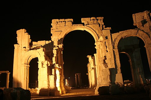 Palmyra Ark at night