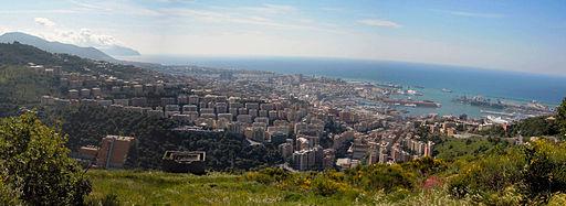 Panorama Genova da Granarolo