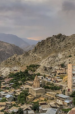 Panorama of Meghri - Holy Mother of God Church, Meghri (Mets Tagh) 03 (cropped).jpg