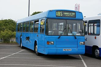 East Lancs Greenway - Panther Travel Greenway at Clacton Bus Rally in 2011