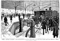 París, estación de Orleans, acto de depositar el féretro de Fernández de los Ríos en el wagon que lo ha conducido a España, de Pellicer.jpg