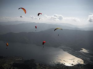 Pokhara Valley - Paragliding on Pokhara