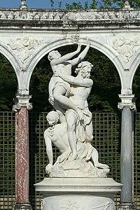 Parc de Versailles, Bosquet de la colonnade, Enlèvement de Proserpine par Pluton, François Girardon 02.jpg