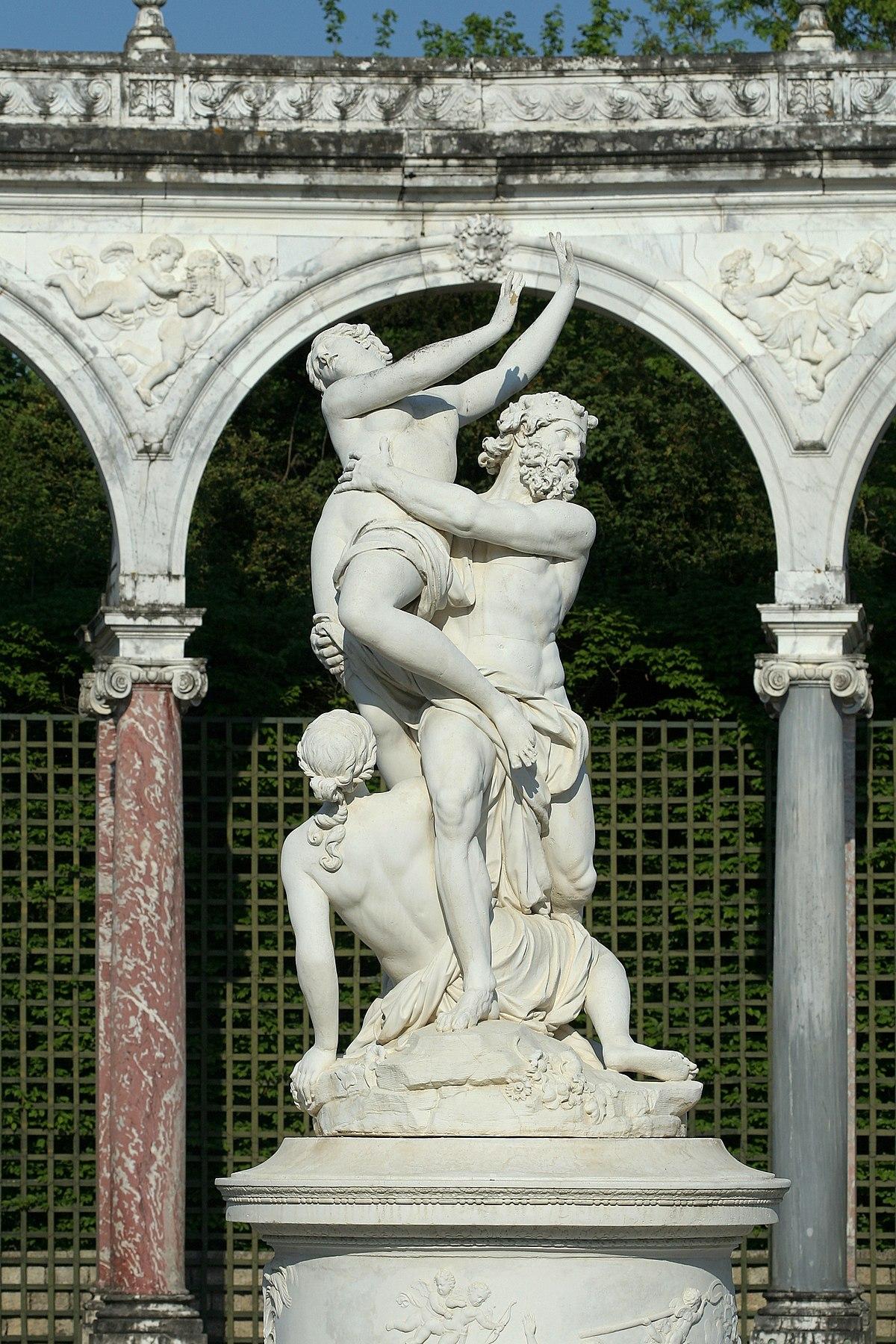 sculpture l'enlevement de proserpine par pluton
