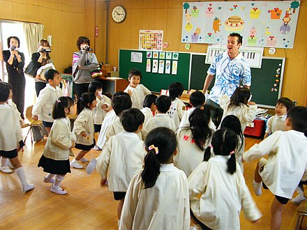 Young children in a kindergarten in Japan Parent's day at Eirfan's Kindergarten.jpg