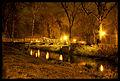Park miejski, 1 poł. XIX - Most nocą.jpg