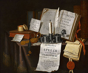 Evert Collier - Edward Collier's vanitas entitled Parliament, Circa 1695