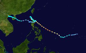 Typhoon Parma - Image: Parma 2009 track