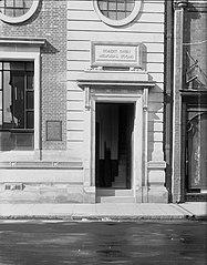 Part of frontage of the Robert Owen Memorial Rooms building