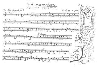 partition musique sam le pompier