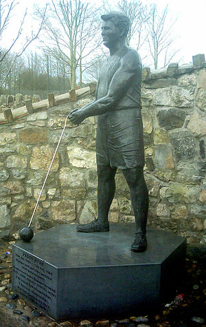 Patrick Ryan (athlete) - Statue of Ryan in Pallas Green, Ireland