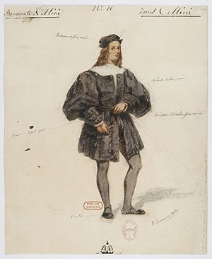 Benvenuto Cellini (opera) - Image: Paul Lormier Costumes for Hector Berlioz's Benvenuto Cellini (1838) No. 10 Benvenuto Cellini