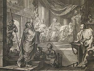 Drusilla (daughter of Herod Agrippa) - William Hogarth, Paul before Felix, 1752. Drusilla is seated on Felix's right.