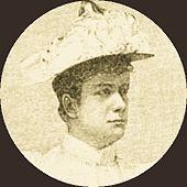 Pauline Strauss-de Ahna, Porträt aus einem Pressebericht, 1894 (Quelle: Wikimedia)