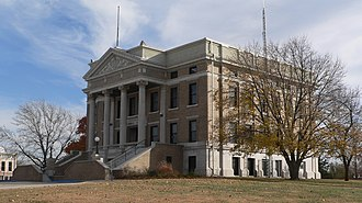 Pawnee County Courthouse (Nebraska) - Image: Pawnee County, Nebraska courthouse from NW 2