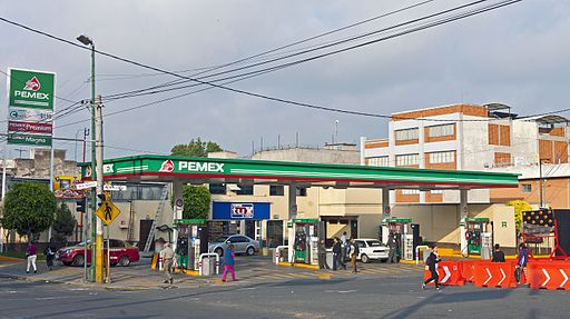 Pemex station near Basilica of Our Lady of Guadalupe Basilica, Mexico City