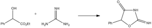 Pemoline - Image: Pemolinesynthesis