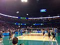 Penn State Women's Volleyball warming up prior to the 2014 Women's Volleyball National Championship.jpg