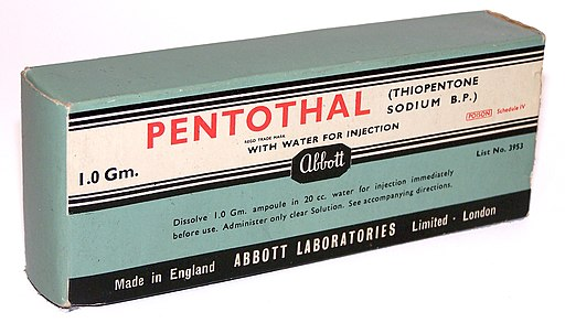 Pentothal vintage package - truth serum