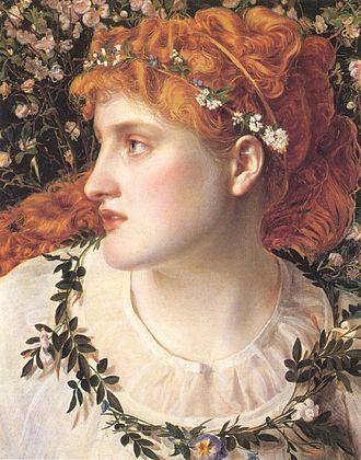 Perdita (The Winter's Tale) - Perdita dressed as a shepherdess (Perdita by Anthony Frederick Augustus Sandys)