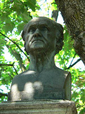 Abraham-Louis Breguet - Statue of Abraham Louis Breguet in Père Lachaise Cemetery