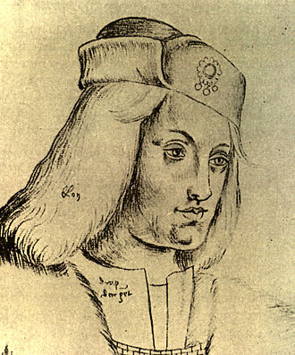 James Ormond (administrator) - Drawing of the Pretender Perkin Warbeck, against whom Sir James Ormond defended Ireland
